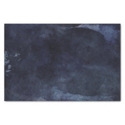 Navy Blue Watercolor Modern Wedding Tissue Paper