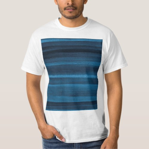 Navy Blue Watercolor Ombre T_Shirt