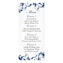 navy blue  Wedding menu