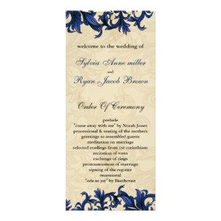 """""""navy blue"""" Wedding program"""