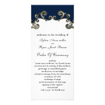 """navy blue"" Wedding program"