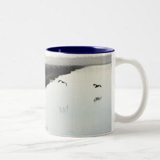 Navy Blue Wetlands Mug
