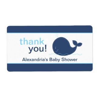 Navy Blue Whale Customized Sticker