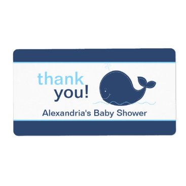 Navy Blue Whale Customized Sticker Custom Shipping Labels