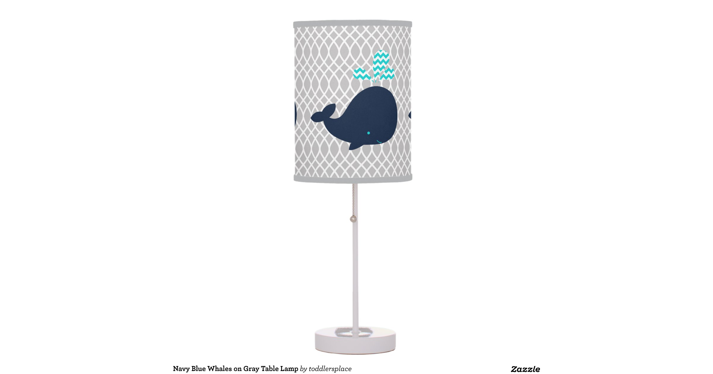 navy_blue_whales_on_gray_table_lamp ...