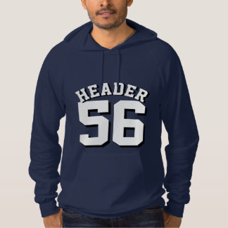 Navy Blue & White Adults | Sports Jersey Design Hoodie