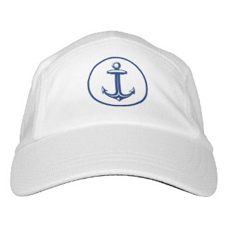 Navy Blue White Anchor Headsweats Hat