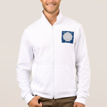 Navy Blue White Anchors Pattern, Gray Monogram Jacket