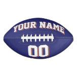 NAVY BLUE WHITE AND ORANGE Custom Football