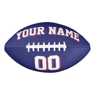 NAVY BLUE WHITE AND RED Custom Football