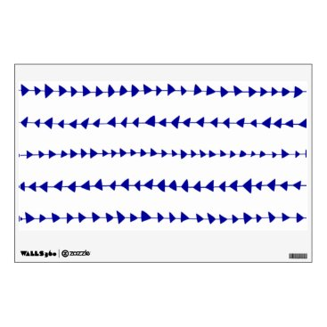 Aztec Themed Navy Blue White Aztec Arrows Pattern Wall Sticker