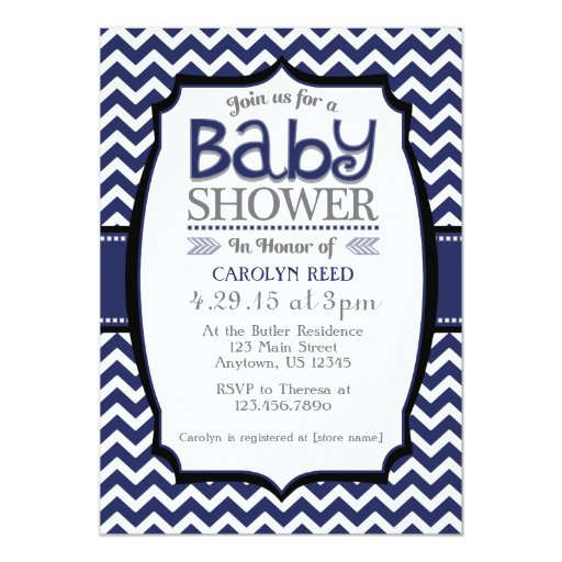 Baby Shower Invitation Card Template for adorable invitation design