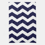 Navy Blue & White Chevron Kitchen Towel