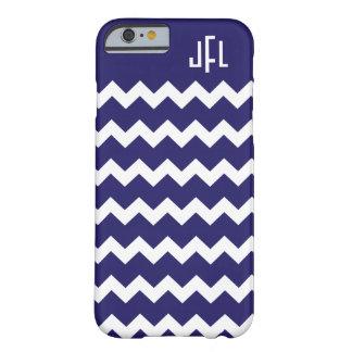 Navy Blue & White Chevron Monogrammed iPhone 6 cas iPhone 6 Case