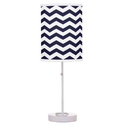 navy blue white chevron pattern desk lamp zazzle. Black Bedroom Furniture Sets. Home Design Ideas