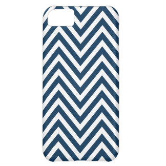 NAVY BLUE WHITE CHEVRON PATTERN iPhone 5C COVER