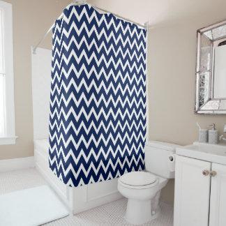 navy blue u0026amp white chevron pattern shower curtain