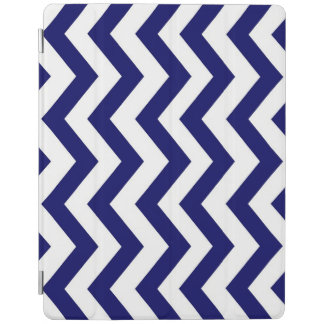 Navy Blue White Chevron Zig Zag iPad Smart Cover