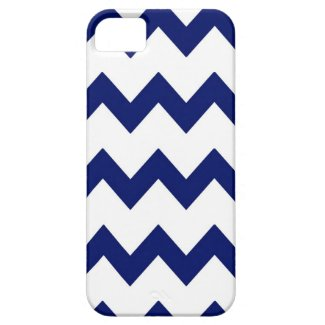Navy Blue White Chevrons Case iPhone 5 Covers