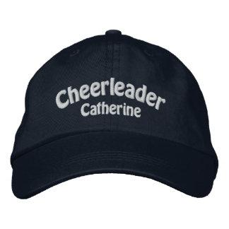 Navy Blue & White Custom Cheerleader's Embroidered Hat