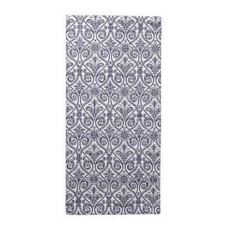 Navy Blue & White Damask Pattern Cloth Napkins