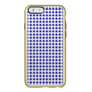 Navy Blue White Gingham Pattern Incipio Feather® Shine iPhone 6 Case