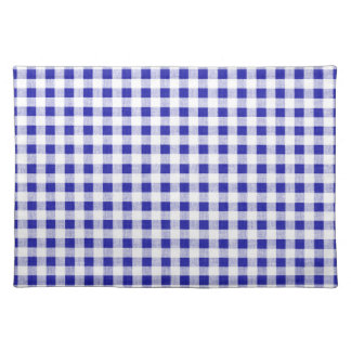 Navy Blue White Gingham Pattern Place Mat