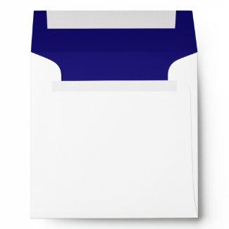 Navy Blue White Linen Envelopes