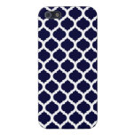Navy Blue & White Moroccan iPhone Case Savvy Case iPhone 5 Cover
