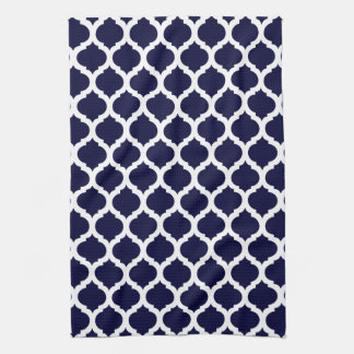 Navy Blue & White Moroccan Hand Towels