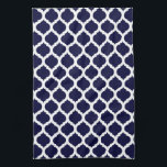 "Navy Blue &amp; White Moroccan Pattern Towel<br><div class=""desc"">Simple,  chic and elegant,  this Navy Blue &amp; White Moroccan Pattern Kitchen Towel will add a little splash of color to your kitchen decor.  Great gift idea for holidays,  birthdays,  celebrations,  new homes or your own home.  Be sure to contact me directly for special requests.</div>"