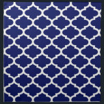 "Navy Blue White Moroccan Quatrefoil Pattern #2 Cloth Napkin<br><div class=""desc"">Navy Blue and White Moroccan Quatrefoil Trellis Pattern #2  