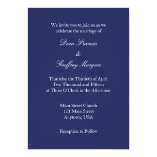 navy_blue_white_plain_simple_wedding_invitation rad50837db81c40f5a92e3191e48711f4_zkrqs_324?rlvnet=1 plain blue invitations & announcements zazzle,Plain White Invitations