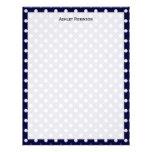 Navy Blue White Polka Dot Pattern Personalized Letterhead