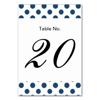 Navy Blue White Polka Dots Pattern Card