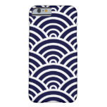 Navy Blue & White Scallop Pattern iPhone 6 Case