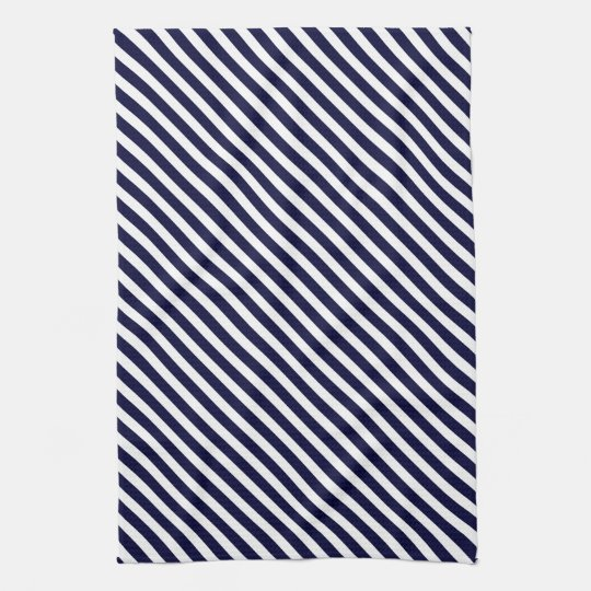 Navy Blue Amp White Striped Pattern Towel Zazzle Com