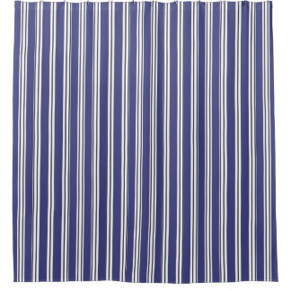 Navy Blue And White Shower Curtains Zazzle