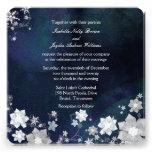 Navy Blue + White Trendy Winter Wedding Invites Custom Invites