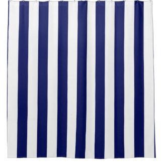 Navy Blue White Vertical Stripe NL  1 Shower CurtainNavy Blue And White Shower Curtains   Zazzle. Navy Blue And White Shower Curtain. Home Design Ideas