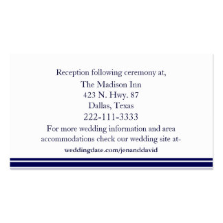 Navy Blue & White Wedding Enclosure Cards Business Card Templates