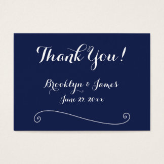 Navy Blue White Wedding Favor Tags Business Cards