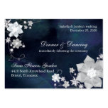 Navy Blue & White Wedding Reception (3.5x2.5) Large Business Cards (Pack Of 100)