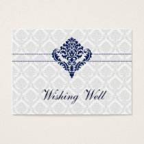 """navy blue"" wishing well cards"