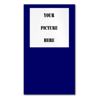 NAVY BLUE with Image Inset ~ Business Card Magnet