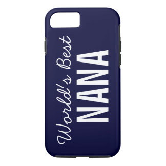 Navy Blue World's Best Nana Custom iPhone 7 iPhone 8/7 Case