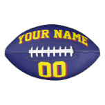 NAVY BLUE YELLOW AND RED Custom Football