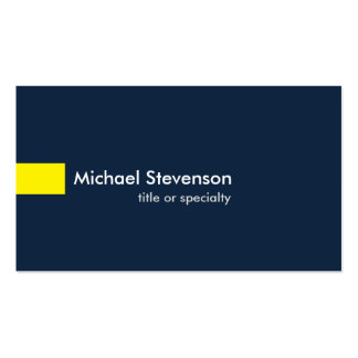 Navy Blue Yellow Modern Unique Consultant Business Card