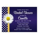 Navy Blue YellowDaisy Bridal Shower Invitation