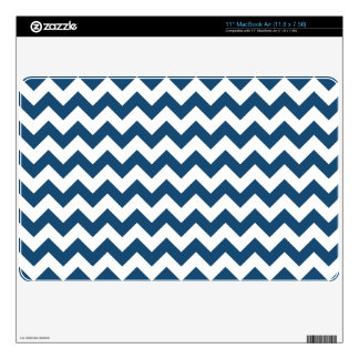 """Navy Blue Zigzag Stripes Chevron Pattern Decal For 11"""" MacBook Air"""